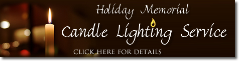 Holiday Memorial Candle Lighting Service